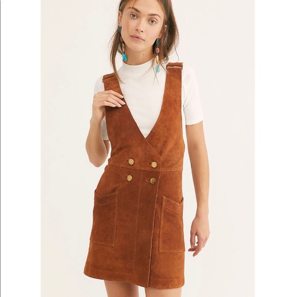 luxury fashion sale usa online better price Free People Brass Suede Jumper Dress NWT